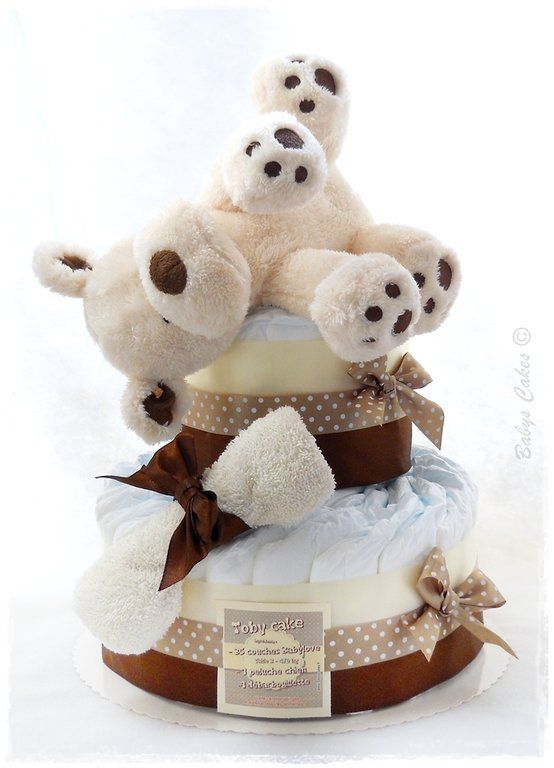 Baby shower Toby diaper cake