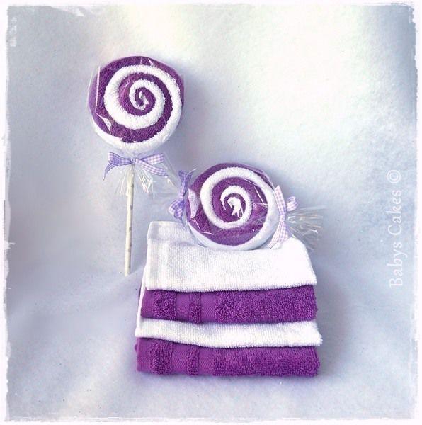 Cadeau invité baby shower - Purple lollipop