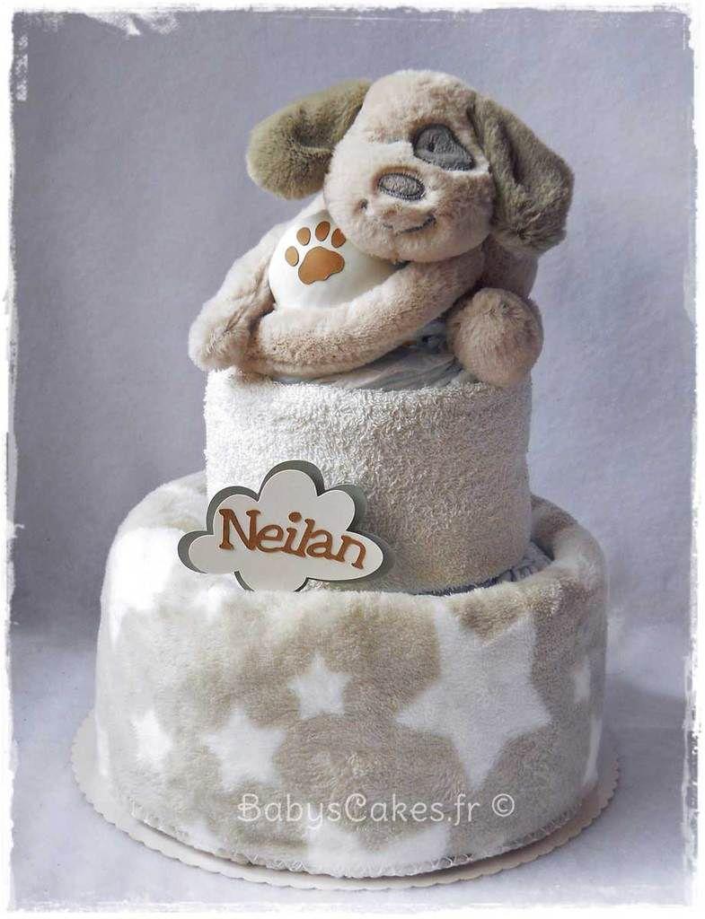 Gâteau de couches naissance ou baby shower