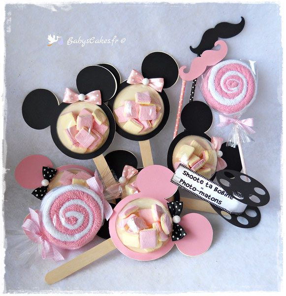 Cadeaux baby shower Minnie et photobooth