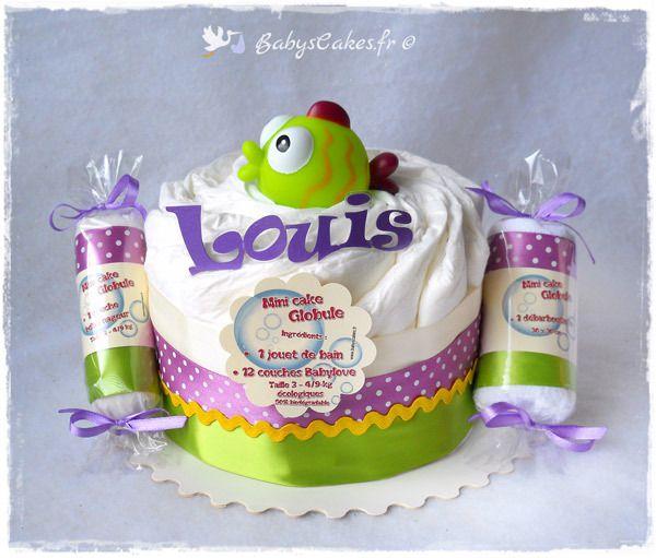 Mini gâteau de couches écologiques et personnalisé