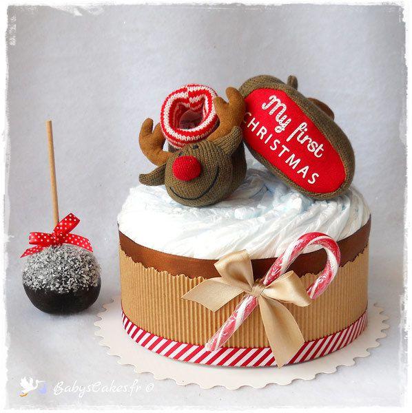 Gâteau de couches premier Noël