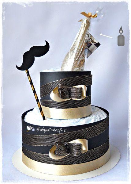 Gâteau de couches naissance Nouvel An