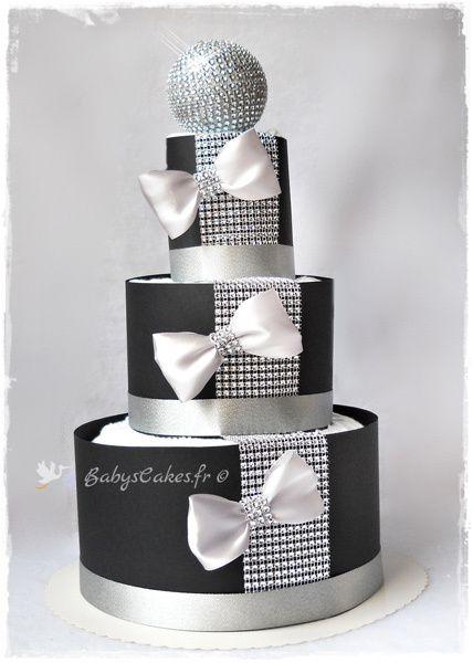 Gâteau de couches strass et paillettes
