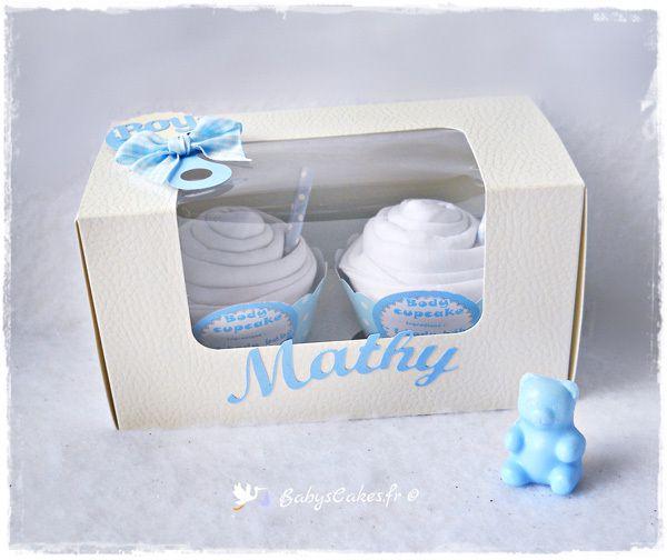 Cadeau de naissance garçon bodies cupcakes