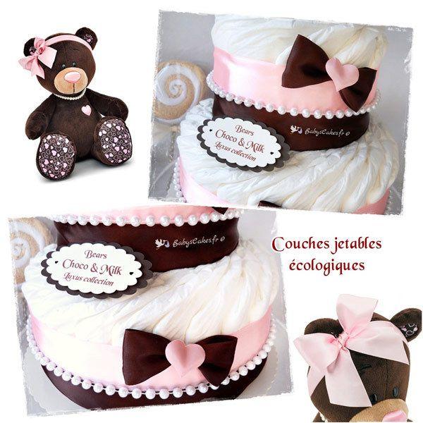 Cadeau de naissance gâteau de couches prestige