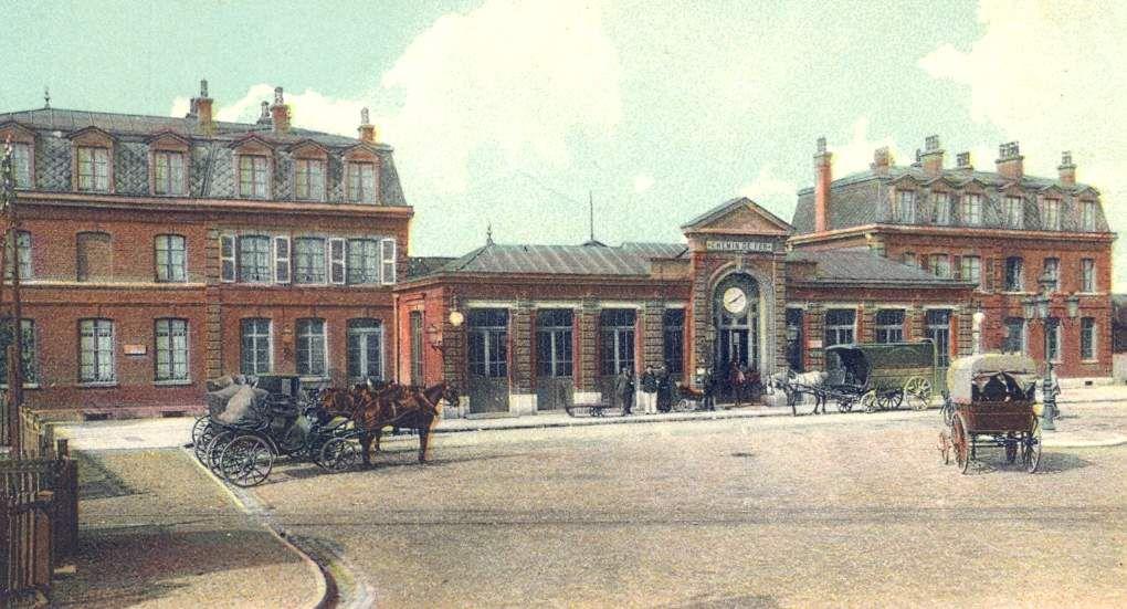 la gare de Béthune à la fin du XIXème siècle