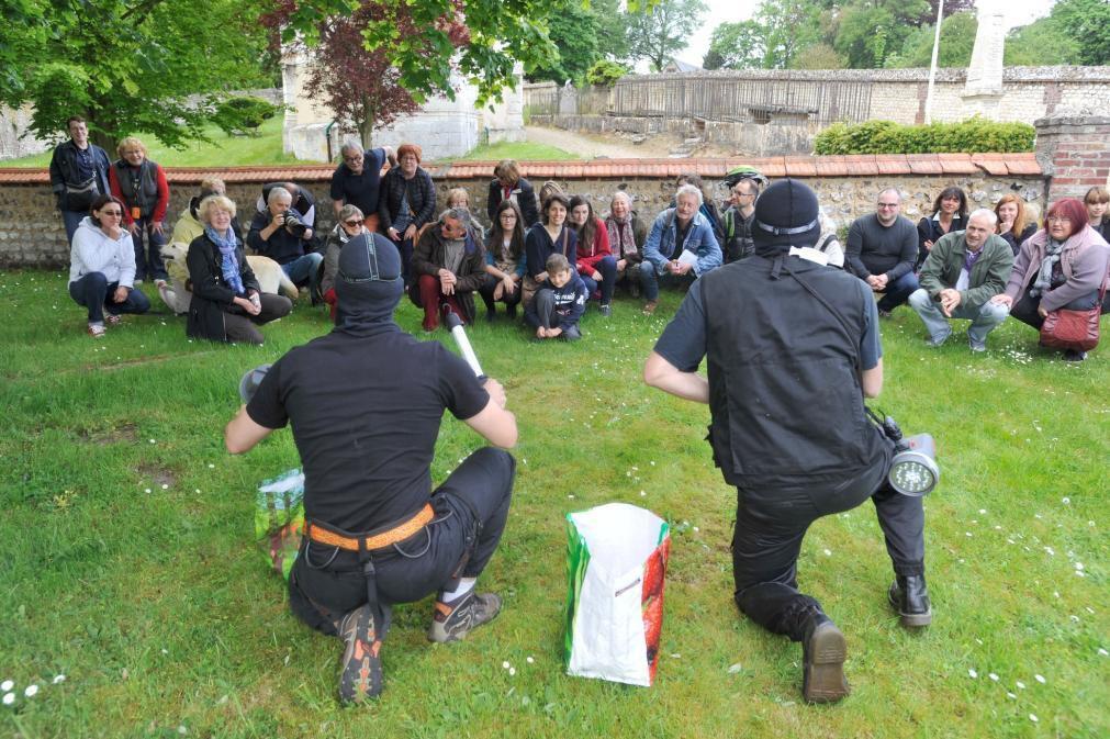 Opération ORCHIDEE le 9 mai 2015 au château d'Hautot
