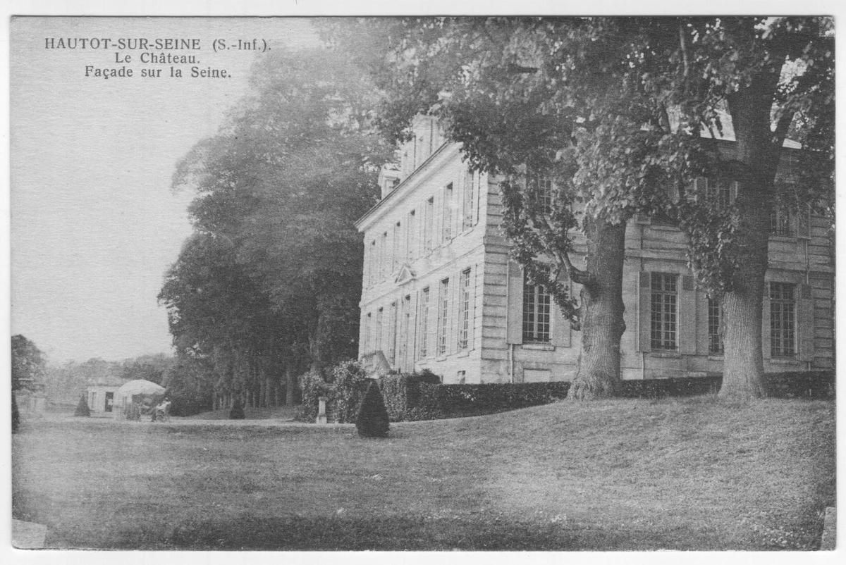 Cartes postales anciennes du château d'Hautot sur Seine