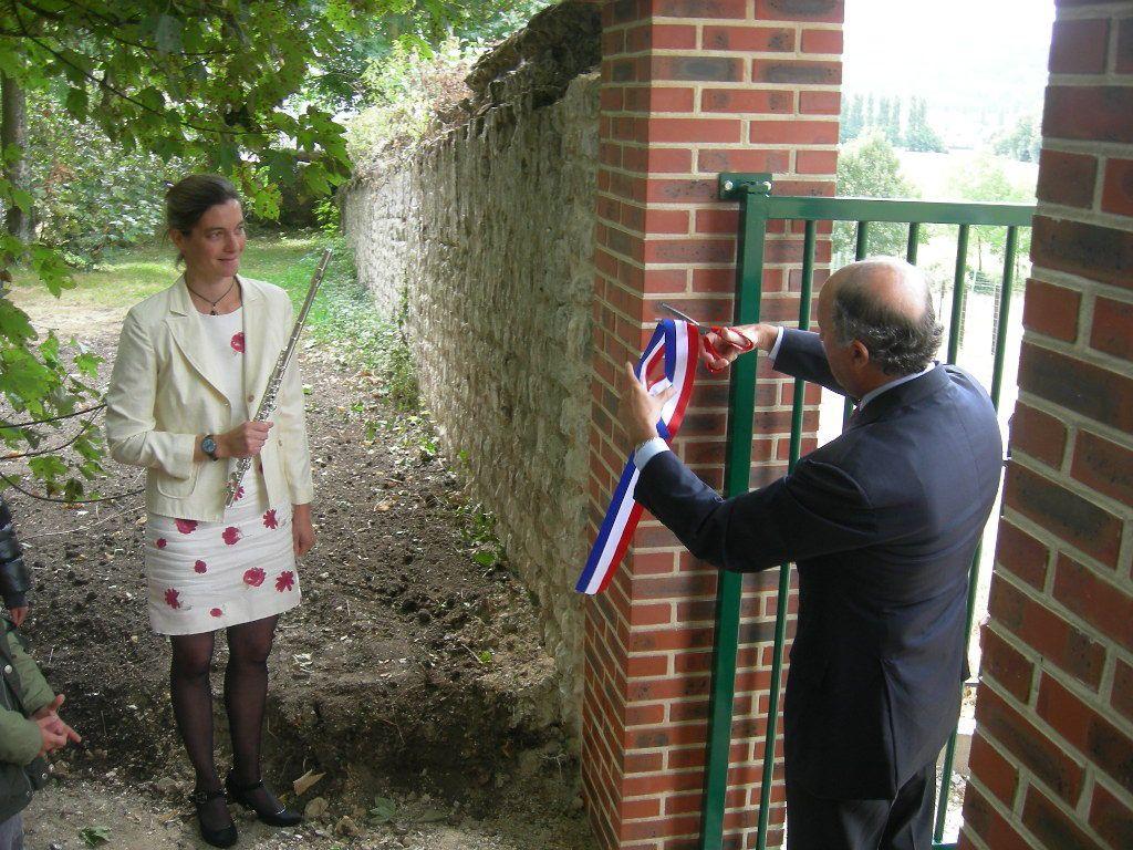 Inauguration du chemin d'accès à l'école