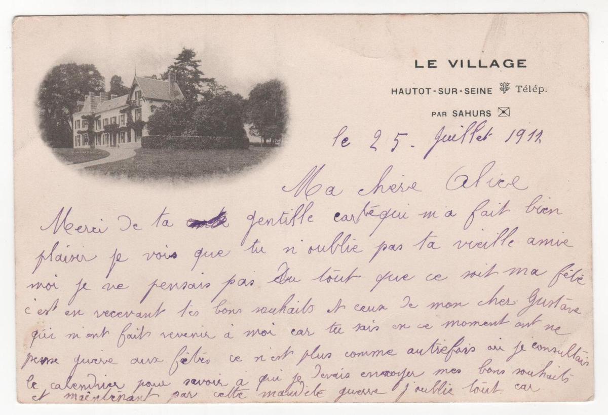 Hautot sur Seine lieu dit le village en 1911
