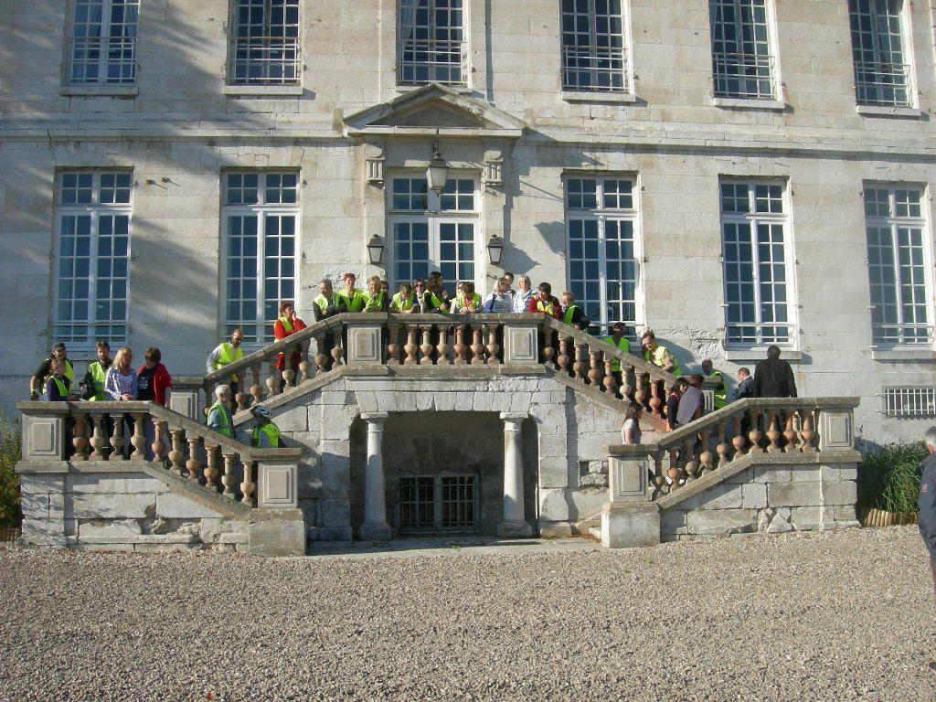 Les marches du Château d'Hautot sur Seine