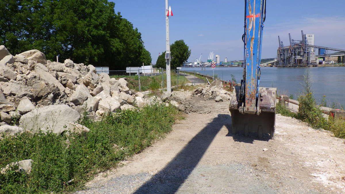 Le chantier du belvédère d'Hautot sur Seine