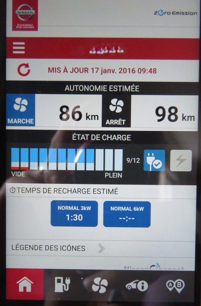 D day 4.45: during breakfast I make sure that my car is charged at 80% as I programmed it. It's easy with the app on my smartphone