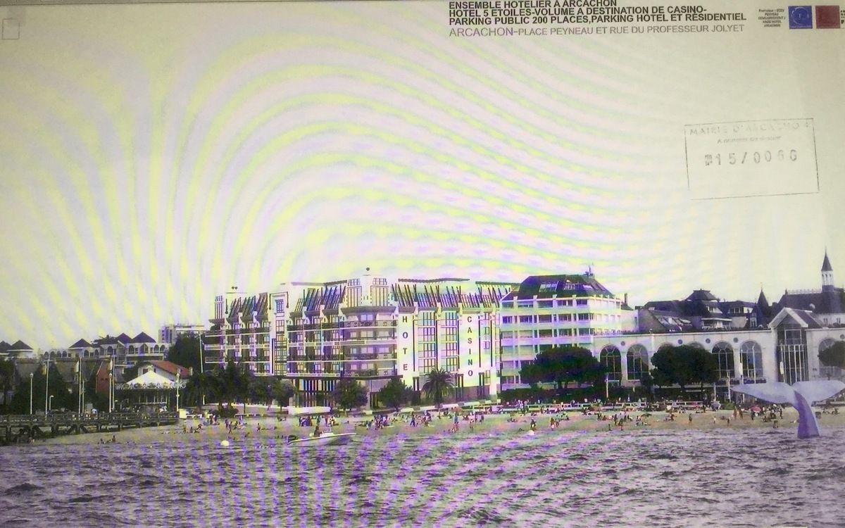 Insertion du projet de la place Peynaud vue de la mer...