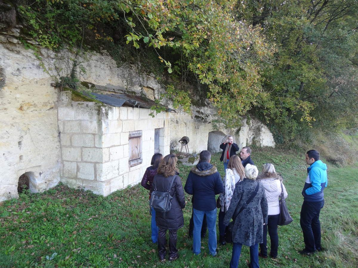 On Tuesday November 11th, visit of a troglodytic house in Faverolles (Part 4 : Original Houses)