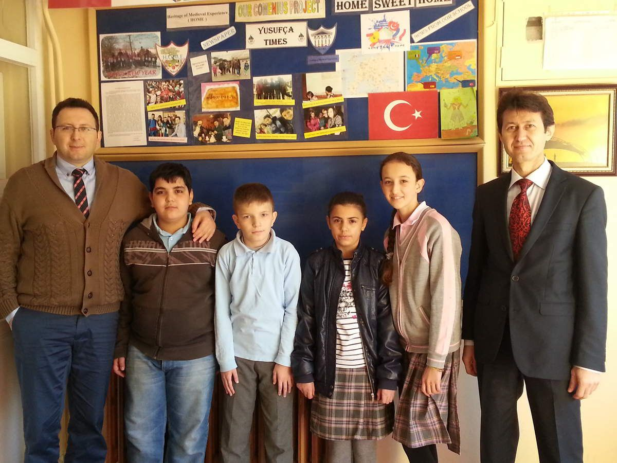 Mr Tezcan and Mr Er with Zafer Can, Bayram,Duygu and Tuğçe. Mr Hakan Bozan will also accompany the group.