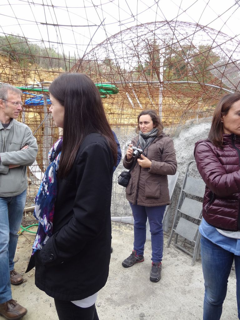 Gaétane during the bubble house's visit and in England. The newspaper she created with the students, Le Canard Ecueillois.