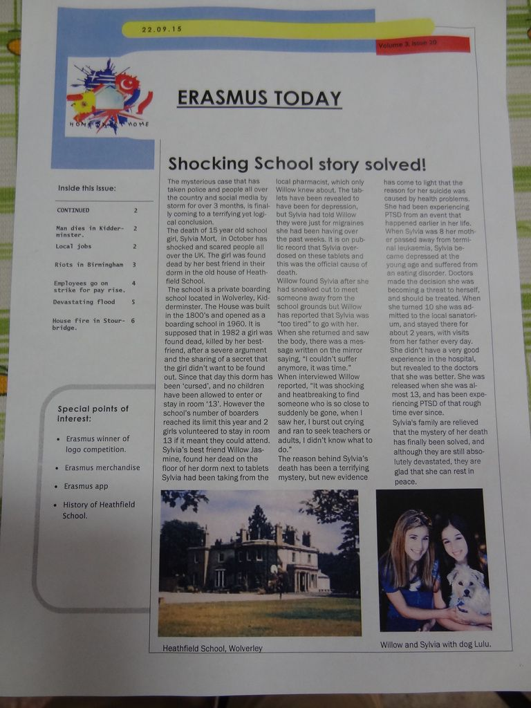 Part 2 : Newspaper article competition.