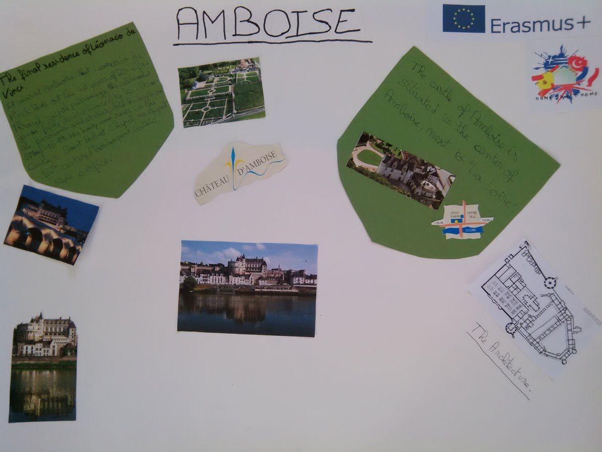 The castle of Amboise by Kamala, Vincent, Hugo, Diégo and Alexis.(year 8)