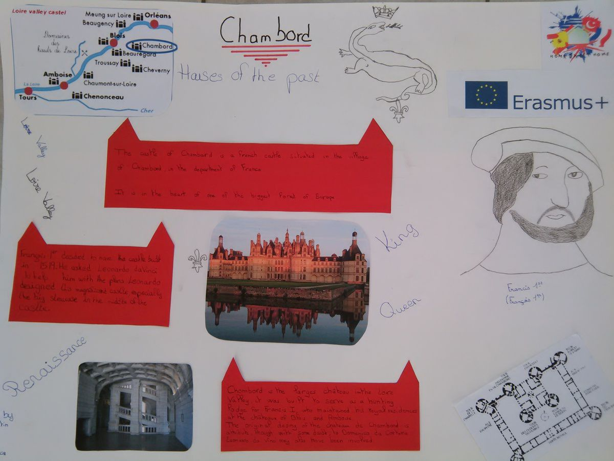 The castle of Chambord by Jessica, Victor, Corentin, Mano, Lilou and Inès. (year 8)