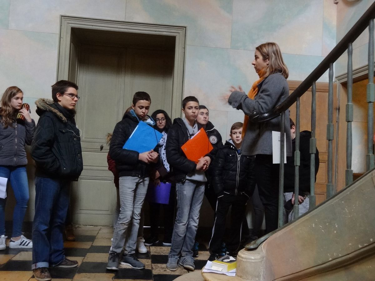 In preparation for Part 3 competition, French students visited George Sand's house