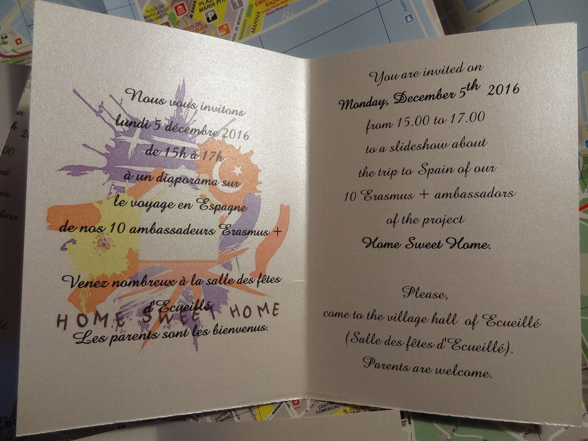 Thank you again to Valérie Jourdain for the invitations!