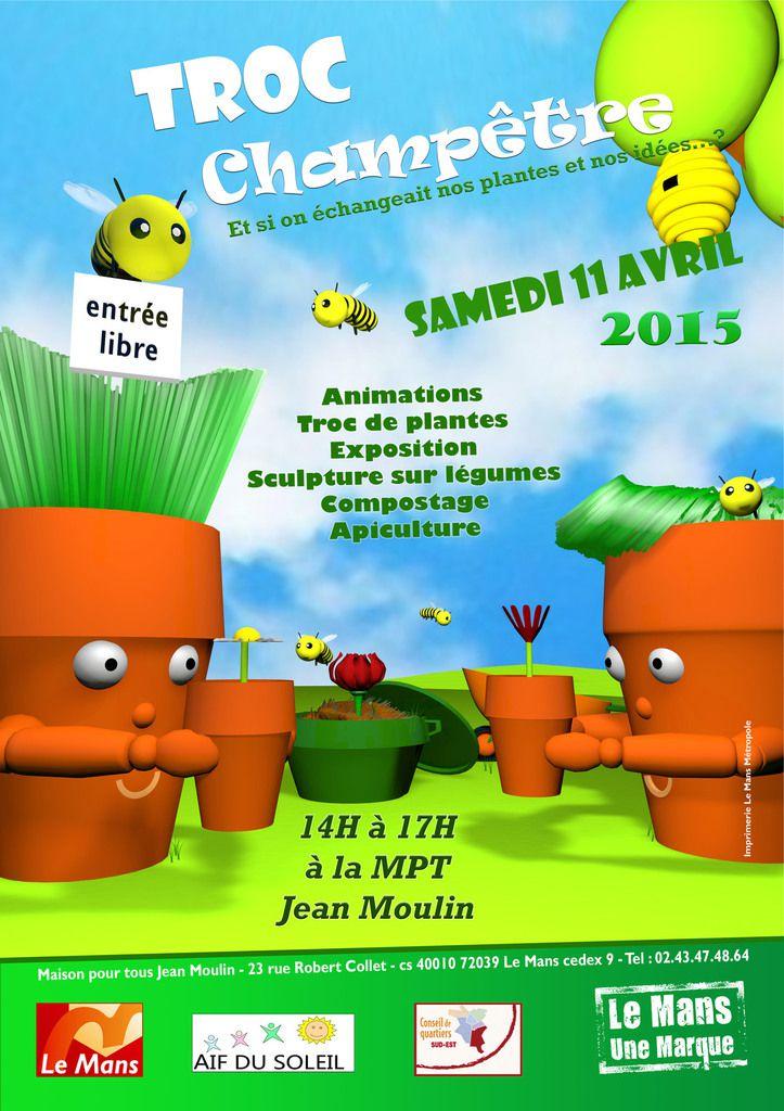 Troc champêtre à la MPT Jean Moulin pour échanger vos plantes et vos idées. Renedz-vous samedi 11 avril.