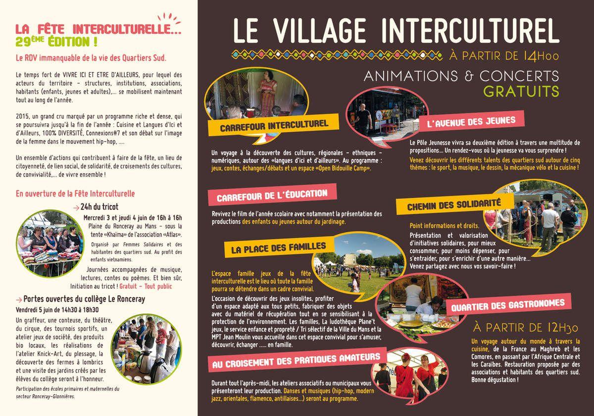La Fête Interculturelle, 29ème édition !  Le RDV immanquable de la vie des Quartiers Sud.