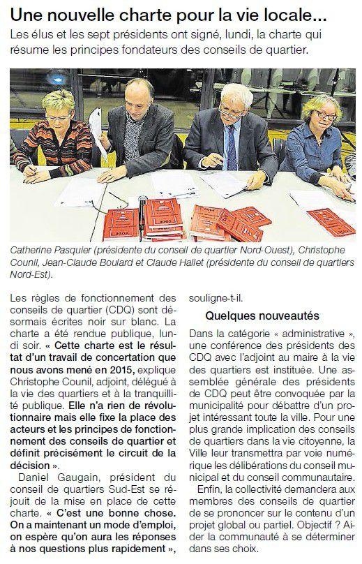 Article Ouest-France, 10 février 2016