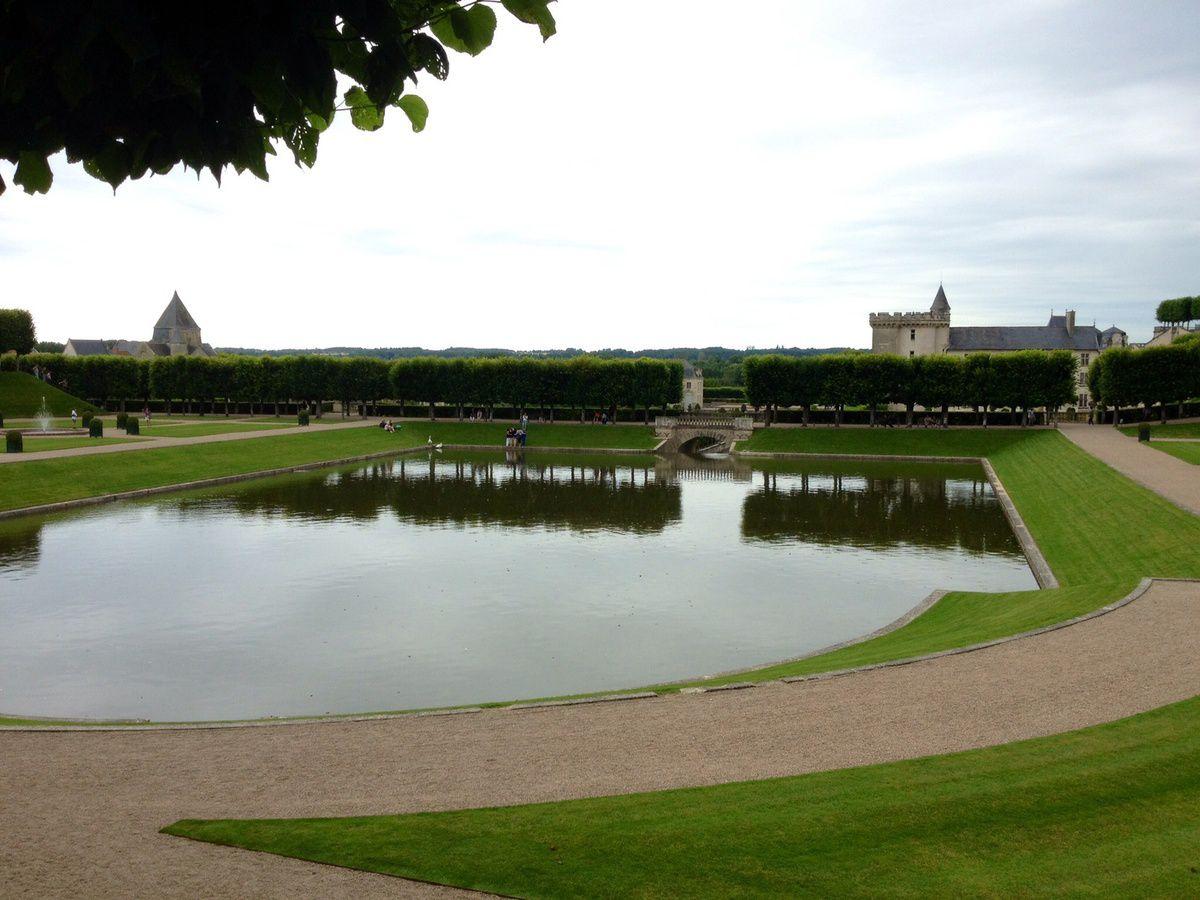 L'étang en forme de miroir