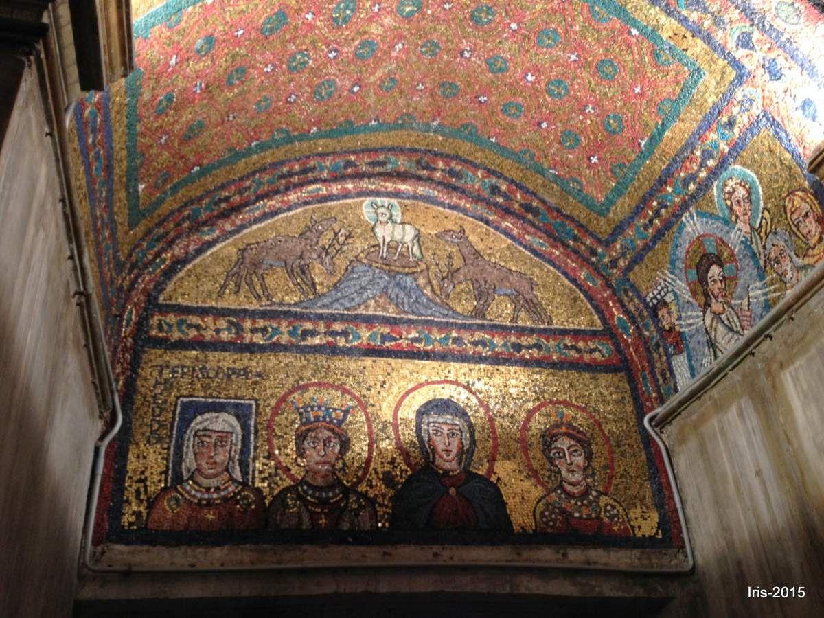 Tres jolie mosaîque de la Basilique Santa Prassede (Monti)