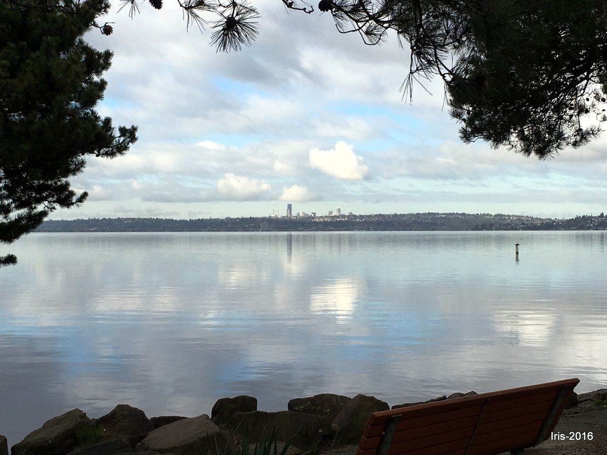 Lac Washington entre Seattle et Kirkland
