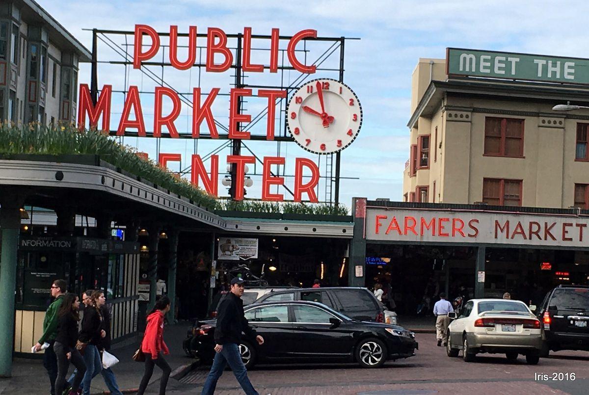 Pike Market, son flying fish et son marché aux fleurs