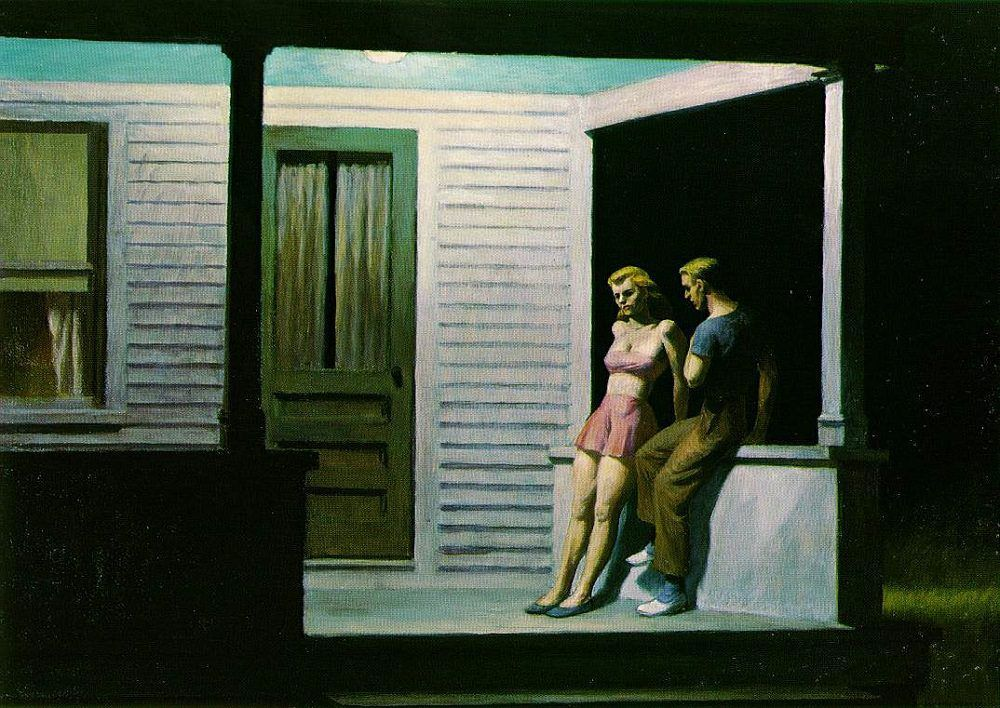 Summer evening &#x3B; Edward Hopper (1947)
