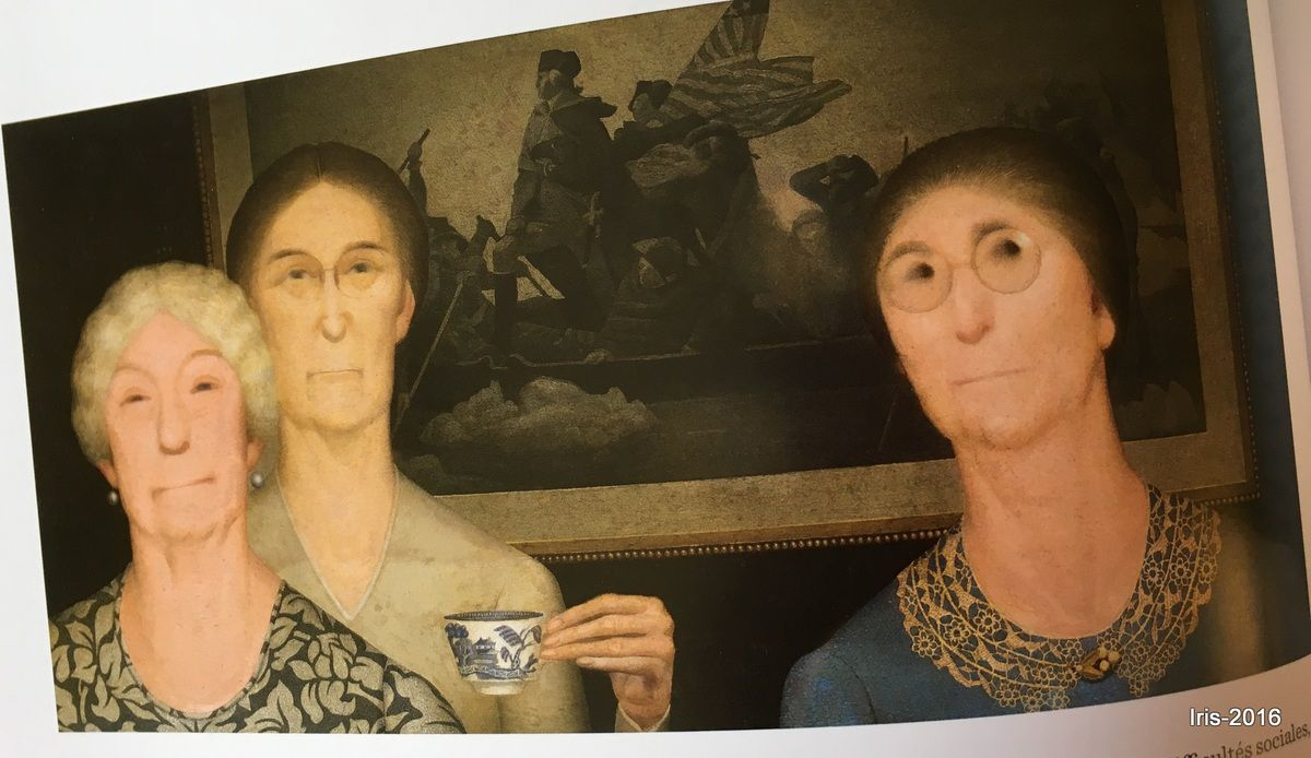 Daughters of Revolution &#x3B; Grant Wood (1932)