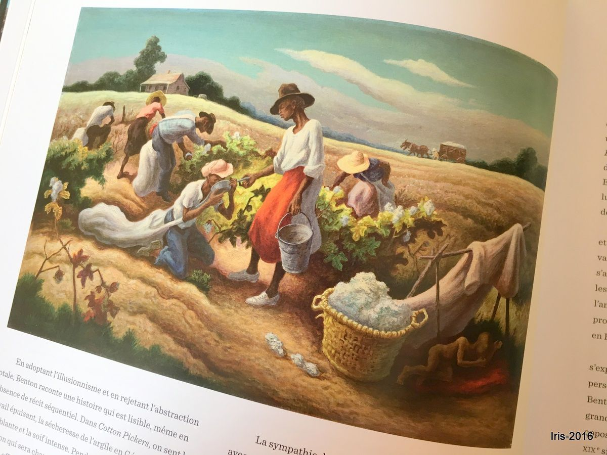 Cotton Pickers &#x3B; Thomas Hart Benton (1945)