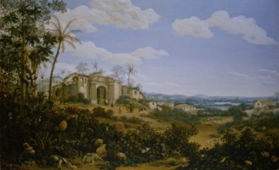 Fans Post, paysage à Olinda (Brésil)/ View of Olinda, Brazil, Frans Jansz Post, 1662  oil on canvas, h 107.5c