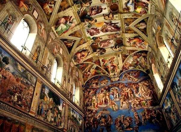 Les liens entre la peinture la sculpture et l - Michel ange le plafond de la chapelle sixtine ...