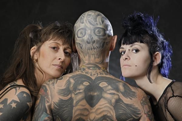 Photo d'Hervé l'homme le plus tatoué de France