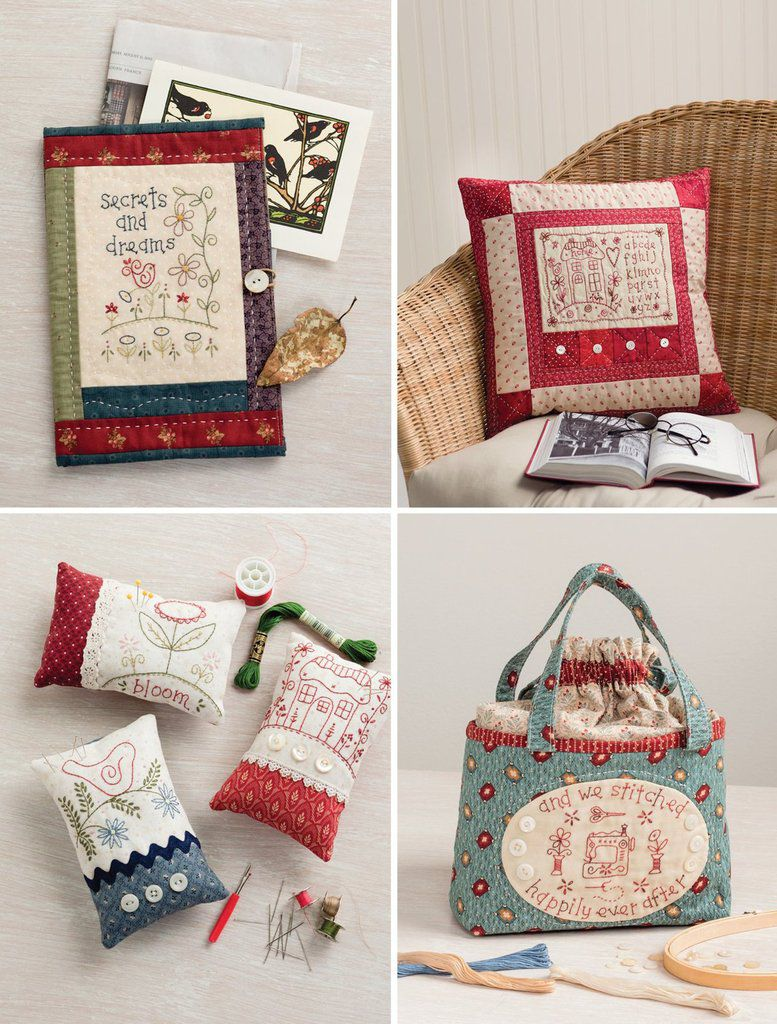 Trousse broderie traditionnelle et patchwork