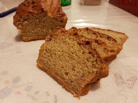 Pain cake pour petit déjeuner