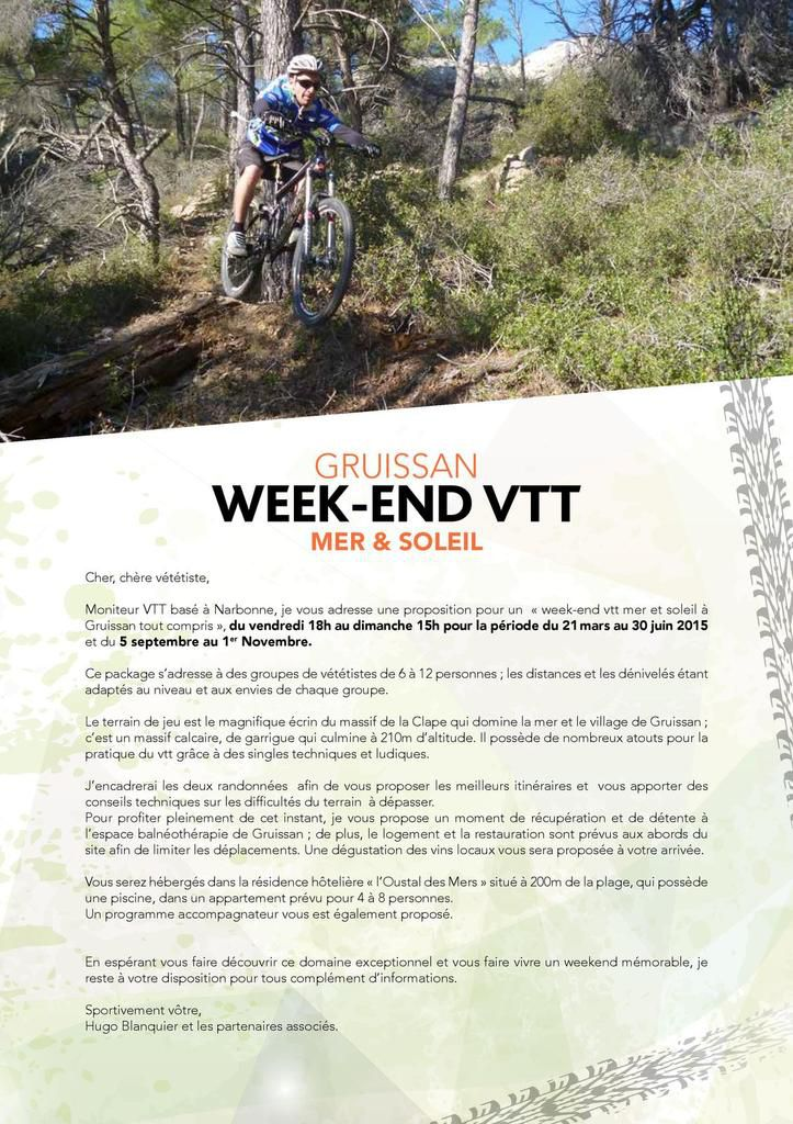 Weekend VTT Gruissan