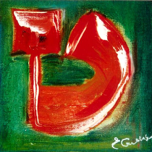 THET TOV-Oil on canvas by Esther Guenassia www.art-kabbalah.com