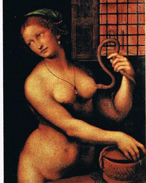 La muerte de Cleopatra, Giampietrino, 1538