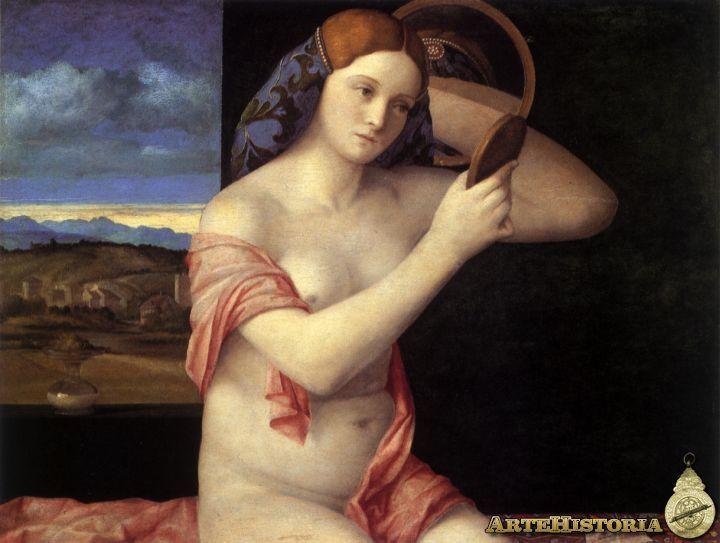 Mujer joven peinandose, Bellini, 1515