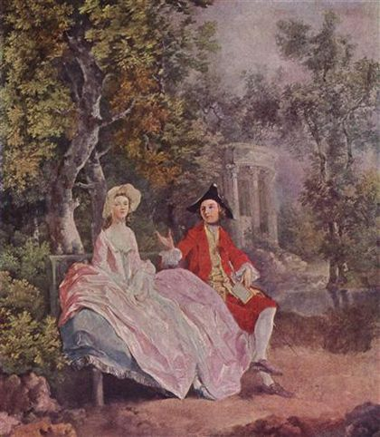 Conversacion en el parque, Gainsborough, 1746