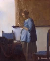Mujer de azul leyendo una carta, Vermeer, SXVII