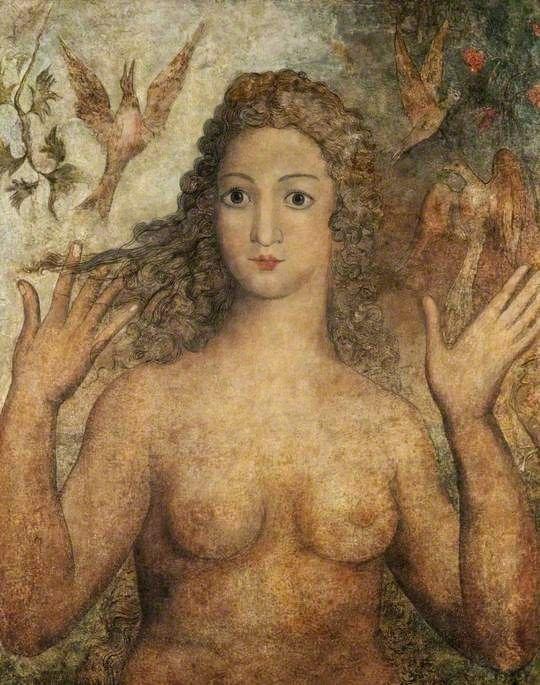Eva dando nombre a las aves, Blake, 1810