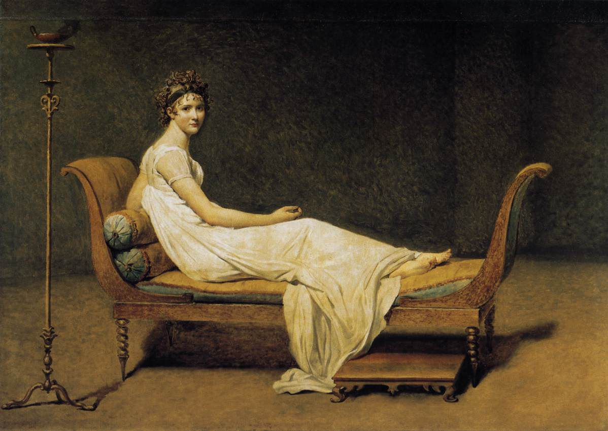 Retrato de madame Recamier, David, 1800
